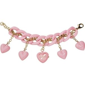 Betsey Johnson Bracelet Watch Charm Pink Heart